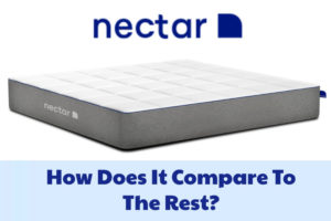 A Nectar mattress with the logo